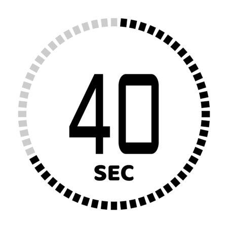 The 40 seconds, stopwatch icon, digital timer. Digital Countdown Timer Vector Icon. Clock and watch, timer. Ilustração