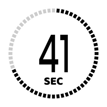 The 41 seconds, stopwatch icon, digital timer. Digital Countdown Timer Vector Icon. Clock and watch, timer. Illustration