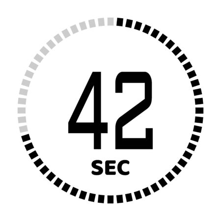 The 42 seconds, stopwatch icon, digital timer. Digital Countdown Timer Vector Icon. Clock and watch, timer. 向量圖像