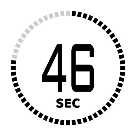 The 46 seconds, stopwatch icon, digital timer. Digital Countdown Timer Vector Icon. Clock and watch, timer.
