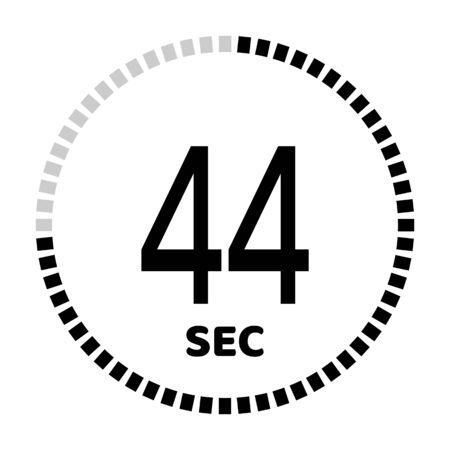 The 44 seconds, stopwatch icon, digital timer. Digital Countdown Timer Vector Icon. Clock and watch, timer.