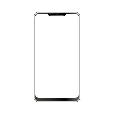 Smartphone icon vector, mobile Illustration. Cellphone frame with blank display isolated templates, phone different angles views.