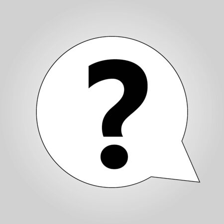 Question mark icon. Speech bubbles with colored question marks