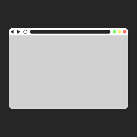 Set of Flat blank browser windows for different devices. Browser mockups. web window mobile screen internet. Vector. Computer, tablet, phone sizes.