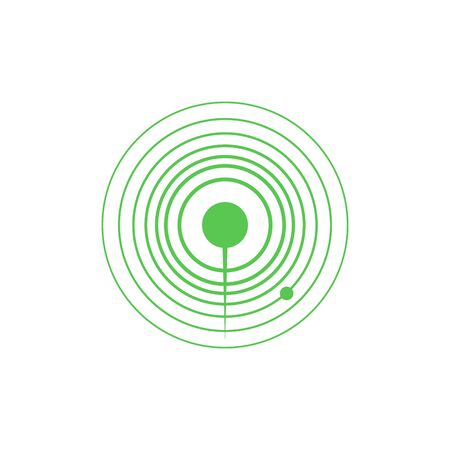 Radar icons. Sonar sound waves.solid pictogram. Flat illustration of maritime radar aim vector icon for web isolated on white