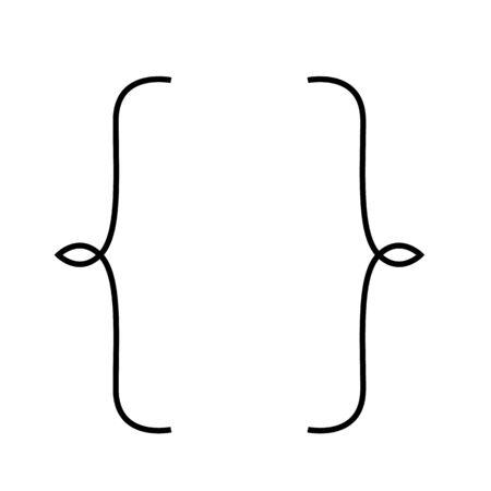 Klammersymbol. Web-Element. Grafikdesign in Premiumqualität. Leere Visitenkarte, Papierblatt, Informationen, Text. Druckdesign Vektorillustration