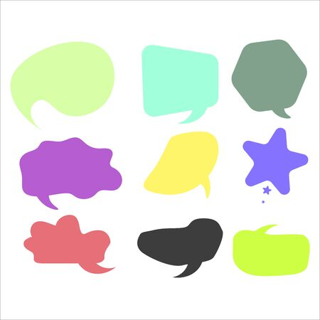 Vector speech bubble colorful set.  Infographic elements for your design.  イラスト・ベクター素材