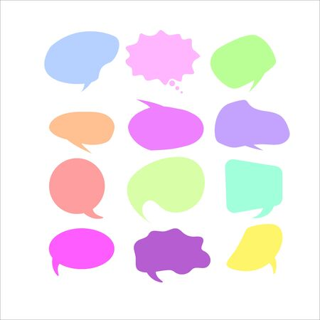 Vector speech bubble colorful collection.  speech bubbles. Infographic elements  イラスト・ベクター素材