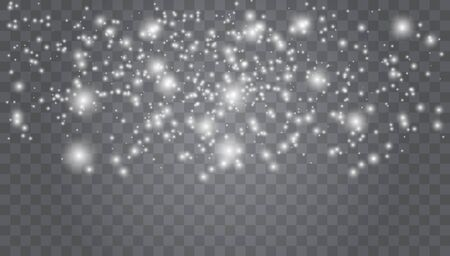 Christmas snow. Falling snowflakes  Holiday Winter background for Xmas snow flake pattern. Magic white snowfall texture.  snowstorm.  Many white cold flake elements White snowflakes flying in the air.