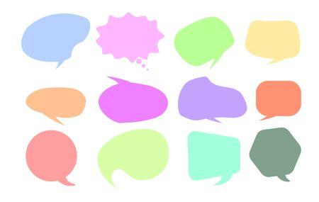 Vector speech bubble colorful set.  speech bubbles. Infographic elements for your design.