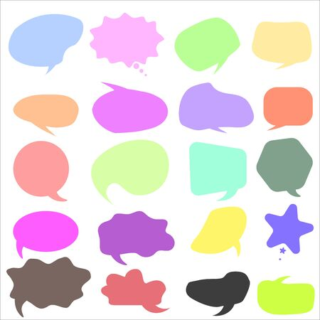 Vector speech bubble colorful set.  speech bubbles. Online chat clouds. Infographic elements for your design.