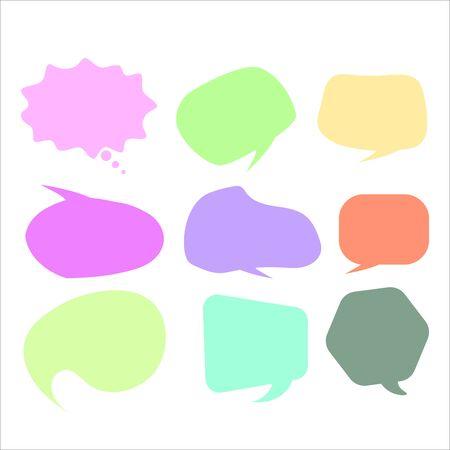 Vector speech bubble colorful set.  speech bubbles. Infographic elements for your design. Vector illustration EPS10 Illustration