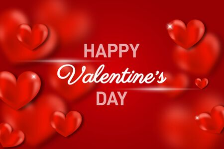 Valentines day concept background. Cute love banner or greeting card. Place for text