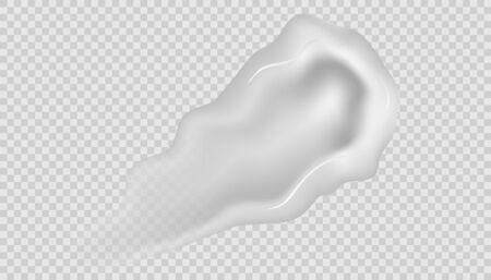 Realistic cosmetic cream smears. Realistic creams drop splashes skincare fresh moisturizing product lotion smear skin. Creamy body gel, skin care facial cream.