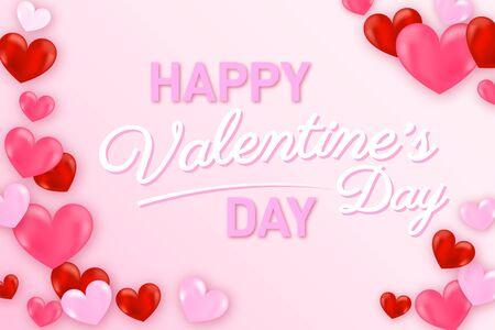 Valentines day background with heart pattern. Wallpaper, flyers, invitation, posters Ilustração