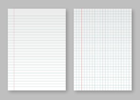 Creative vector illustration of realistic square, lined paper blank sheets. Vector illustration EPS10 Ilustração