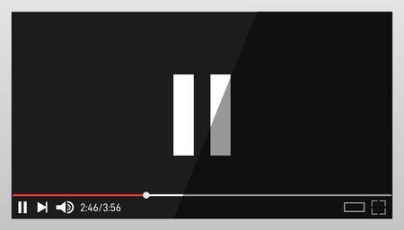 Black video player design template. Modern video player design template. Ilustração