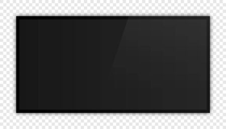 TV, modern blank screen lcd, led, on isolate background Ilustração