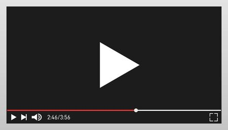Modern video player design template for web and mobile apps.
