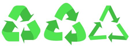 Set of Recycled cycle arrows icon. Recycled eco icon.