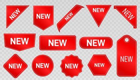 Tags set. Vector badges. New  arrival Ilustração