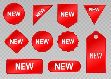 Stickers for New Arrival shop product tags, new labels Ilustração