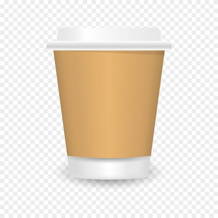 Vector realistic blank paper coffee cup