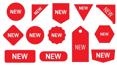 Price tags vector collection. Stickers for New Arrival shop product tags, new labels or sale posters