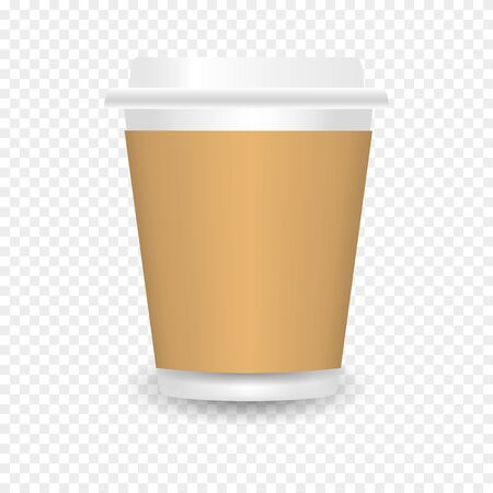 Paper coffee cup. Paper Coffee Cup Mockup. Vector Template