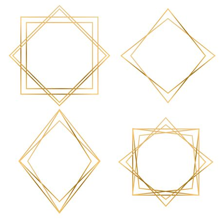 Luxury gold geometric frame collection. Design for wedding card