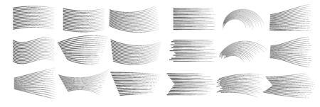 Speed lines isolated set.  Black lines.