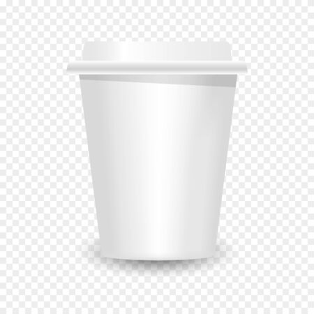 3D Realistic of paper Coffee Cups. Blank realistic coffee cup mockup
