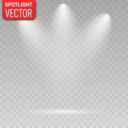 Spotlights. Scene. Light Effects. Vector illustration EPS10