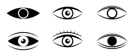 Eyes and eye icon set vector collection. Human vision. Set of eye icon flat style. Look and Vision icons.