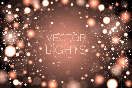 Luxury gold glitter confetti, yellow golden shiny explosion. Christmas golden lights. Background of bright glow bokeh.