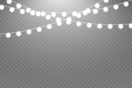 glowing lights. Garlands,decorations. Shiny lights. Fairy lights.