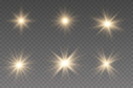 Light effect Bright Star. Beautiful light for illustration. Glow effect. The star burst with brilliance.