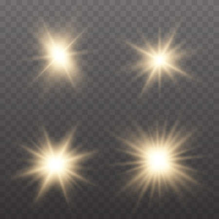 Light effect Bright Star. Bright flashes. Beautiful light on the translucent. Light for banners.