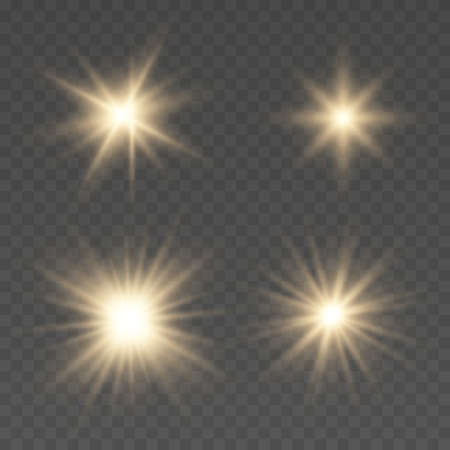 Light effect Bright Star. Bright flashes. Beautiful light on the translucent. Light for banners. Vector illustration EPS10