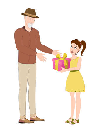 Impressions at a young age. Give gifts to your loved ones at special moments. Men ages give gift to women and kids