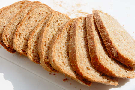 whole wheat: Slices of whole wheat bread