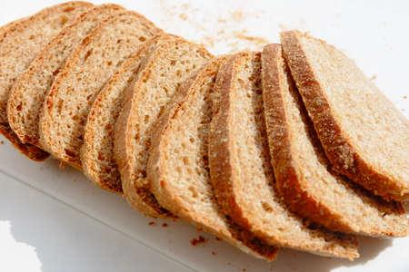 whole wheat bread: Slices of whole wheat bread