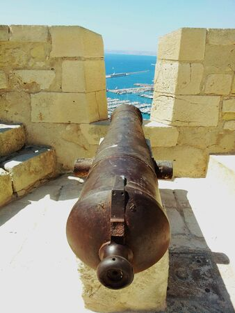 cannon gun: Cannon on fortress wall