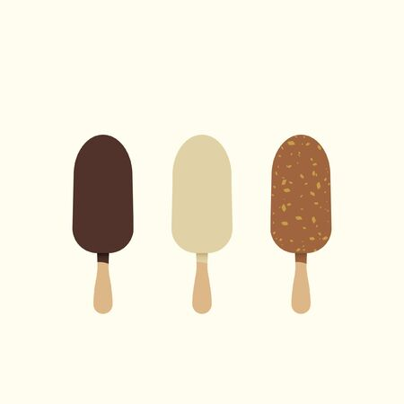 Three chocolate lollies