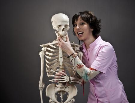 Nurse and Skeleton