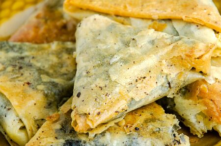 Close up shot of sweet tasty baklavas