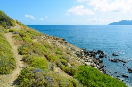 skiathos: Cliff coastline and beautiful blue sea - Skiathos, Greece