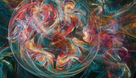 Chaotic mixture of various colors Standard-Bild