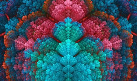 Fractal repetition of colorful seashell like texture Stock Photo