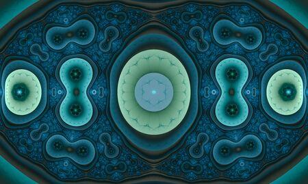 Blue symmetrical cell like shapes